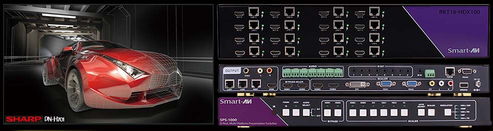 Sharp PN-H701 and SMART AVI Switcher Matrix /></td>